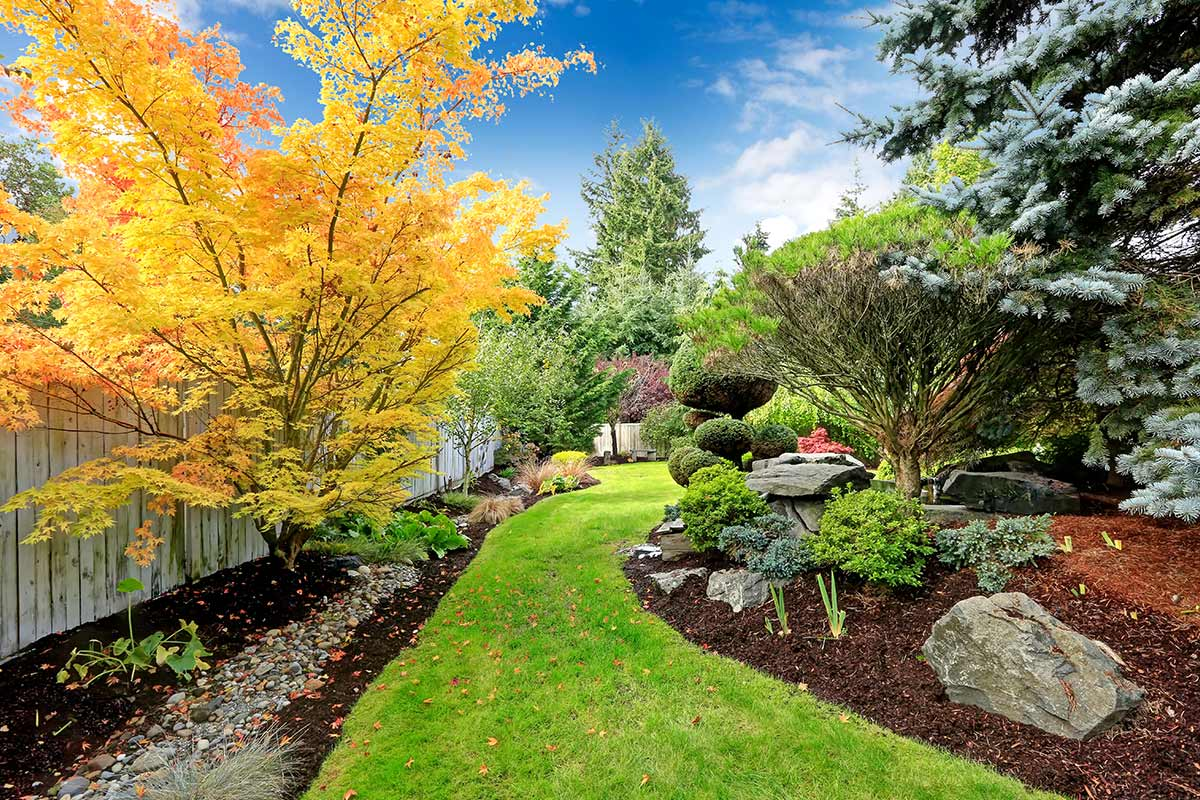 Beautifully landscaped garden in Edmonton